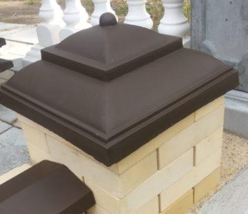 колпаки бетонные на столбы